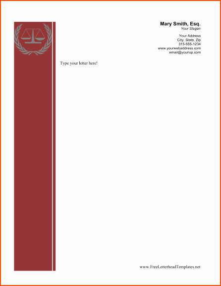 Legal Letterhead Templates Unique 5 Free Business Letterhead Templates Bookletemplate