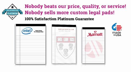 """Legal Pad Template Luxury Custom Legal Pads Letter Size 8 5"""" X 11 75"""""""