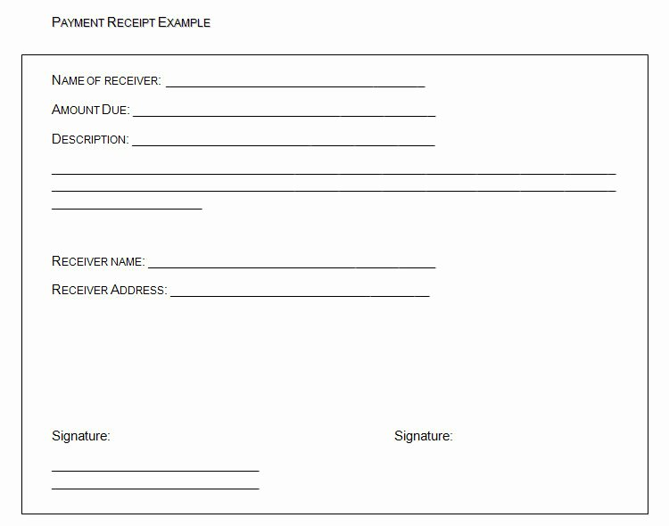 Legal Receipt Of Payment Template New In Full Payments Receipts Templates