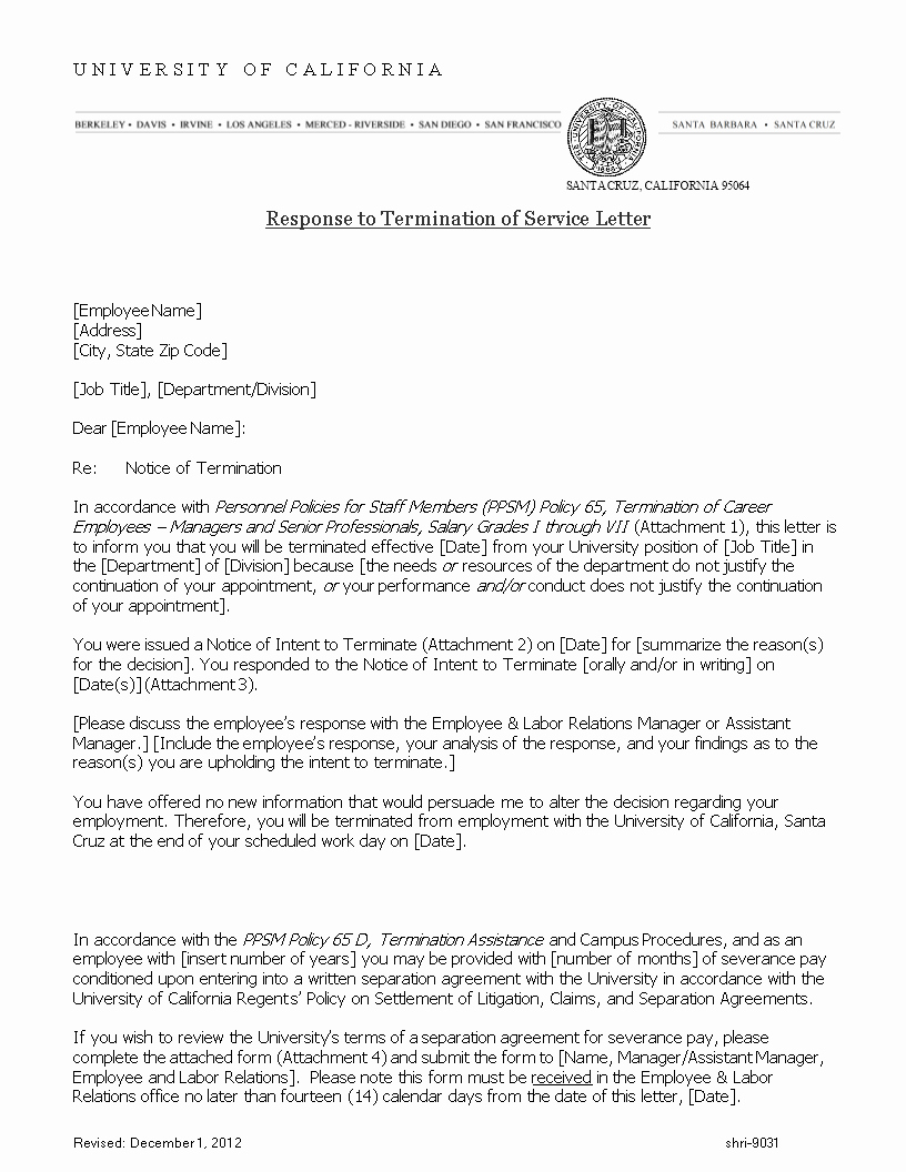 Legal Response Letter Template Best Of Free Response to Termination Of Service Letter
