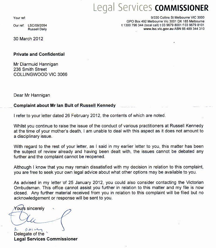 Legal Response Letter Template Best Of the Victorian Legal Services Missioner
