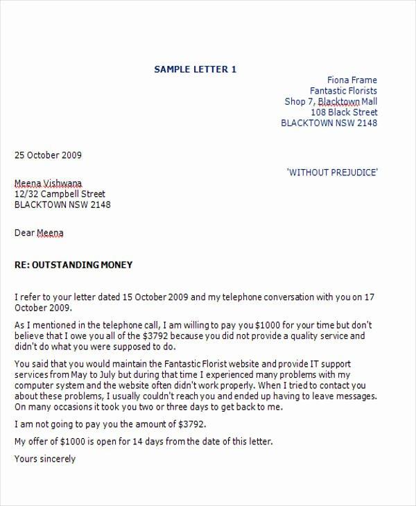 Legal Response Letter Template Elegant Free Demand Letters