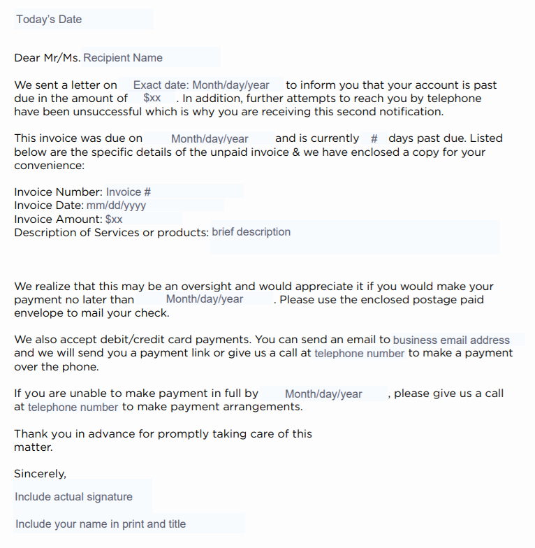 Legal Response Letter Template Fresh How to Write A Collection Letter [ Free Templates]