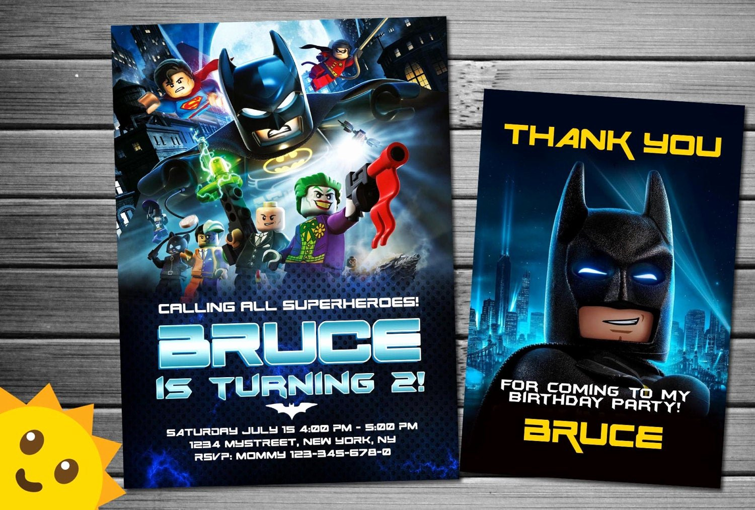 Lego Birthday Card Printable Awesome Lego Batman Invitation Lego Batman Birthday by