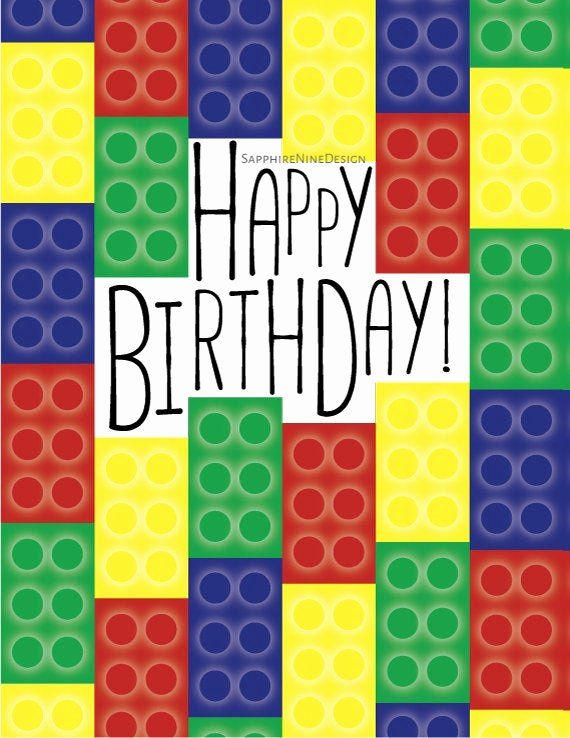 Lego Birthday Card Printable Best Of Items Similar to Lego Birthday Card Lego theme Party