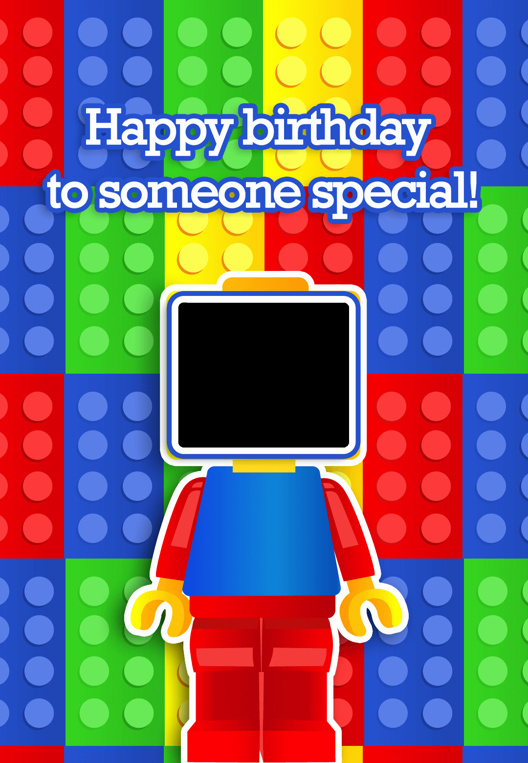 Lego Birthday Card Printable Elegant to someone Special Birthday Card Free