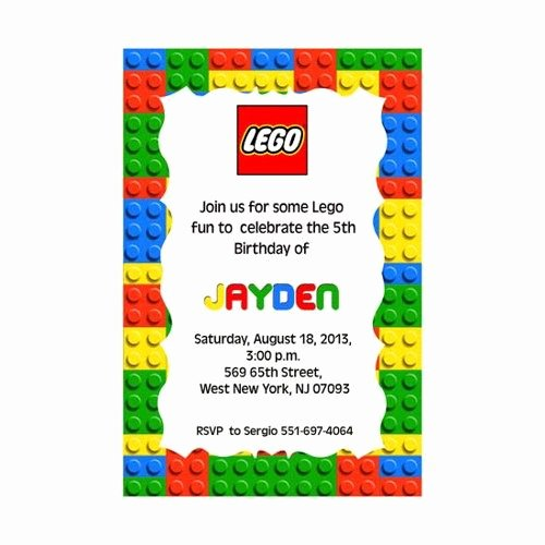 Lego Birthday Card Printable Fresh Best 25 Lego Birthday Invitations Ideas On Pinterest