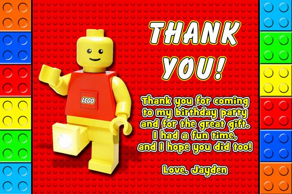 Lego Birthday Card Printable Fresh Lego Block Invitations