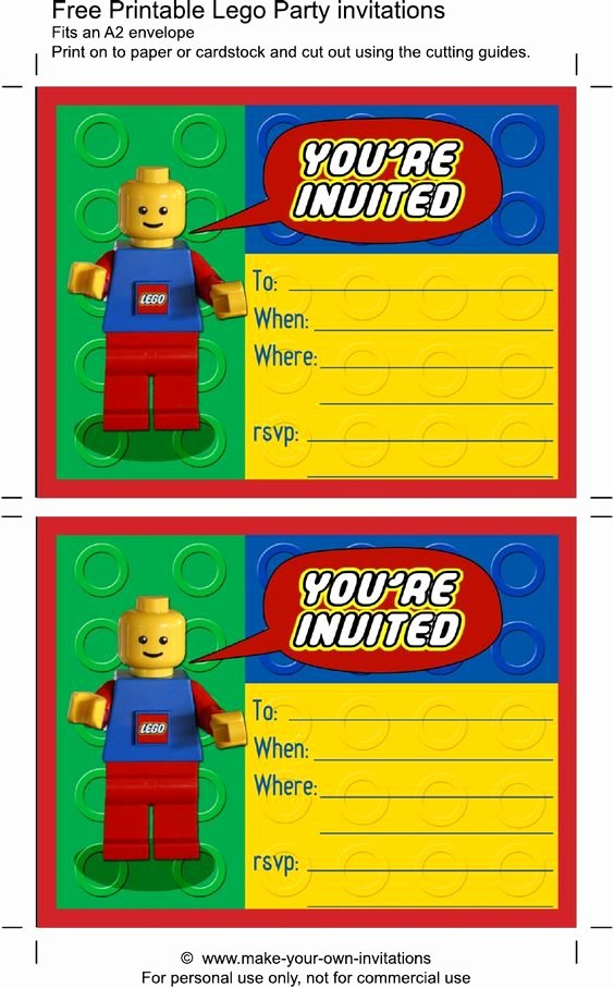 Lego Birthday Card Printable Fresh Printable Lego Birthday Invitations Scribd