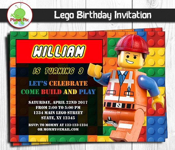 Lego Birthday Card Printable Luxury 17 Best Ideas About Lego Birthday Invitations On Pinterest
