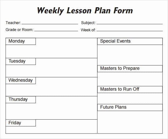 Lesson Plan Template for College Instructors Beautiful 5 Free Lesson Plan Templates Excel Pdf formats