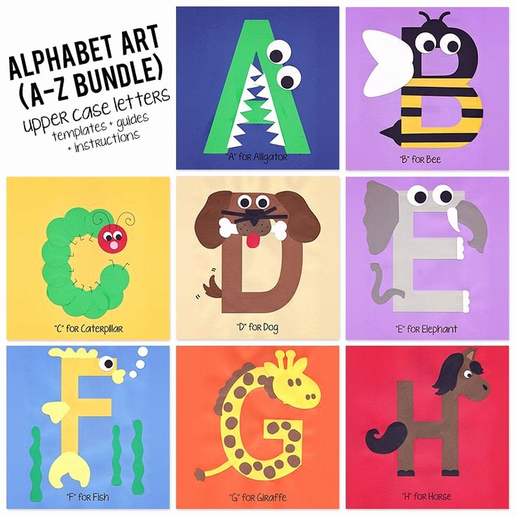 Letter A Template for Preschool Fresh Best 25 Alphabet Art Ideas On Pinterest
