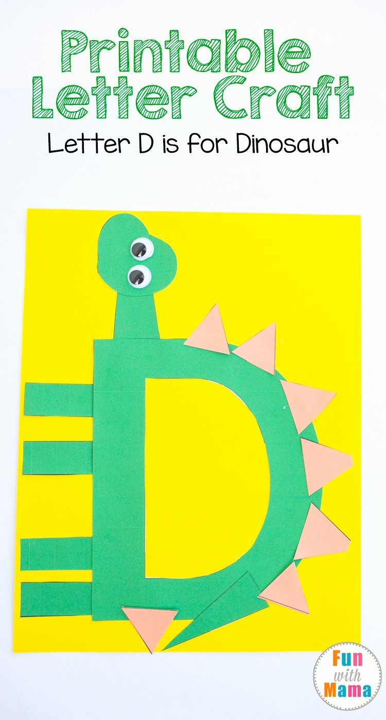 Letter A Template for Preschool Fresh Printable Letter D Crafts D is for Dinosaur Fun with Mama