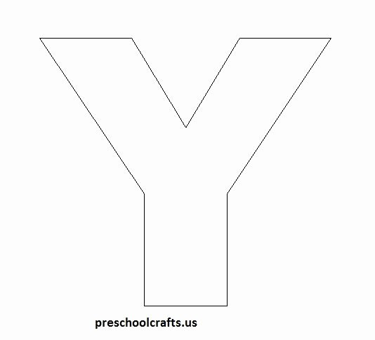 Letter A Template for Preschool Inspirational 17 Best Ideas About Letter Y Crafts On Pinterest