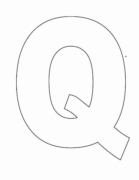 Letter A Template for Preschool Lovely Printable Letter Q Template Alphabet Letter Q Templates