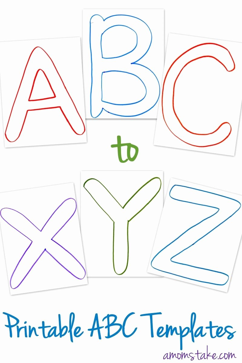 Letter A Template for Preschool New Free Abc Printable Letter Templates for Preschool or