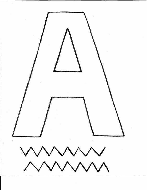 Letter A Template for Preschool New Letter A Crafts for Preschool Preschool and Kindergarten