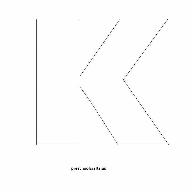 Letter A Template for Preschool New Letter K Template Letter Of Re Mendation