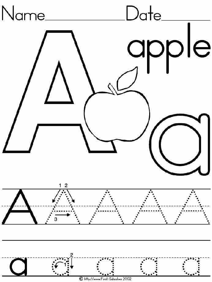 Letter A Template for Preschool Unique 29 Best Tracing Letter Templates Images On Pinterest