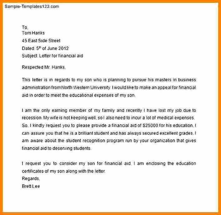 Letter asking for Financial Support Elegant 8 How to Write A Letter asking for Financial Support