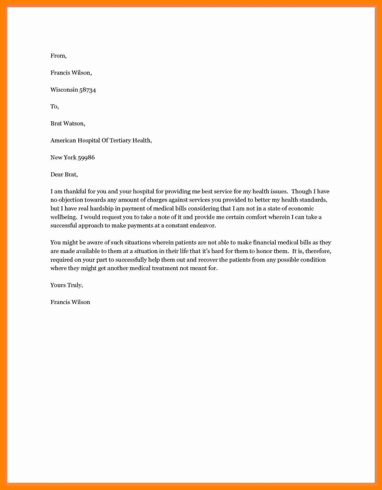 Letter asking for Financial Support Unique Letter Request for Financial assistance asking Support Pdf