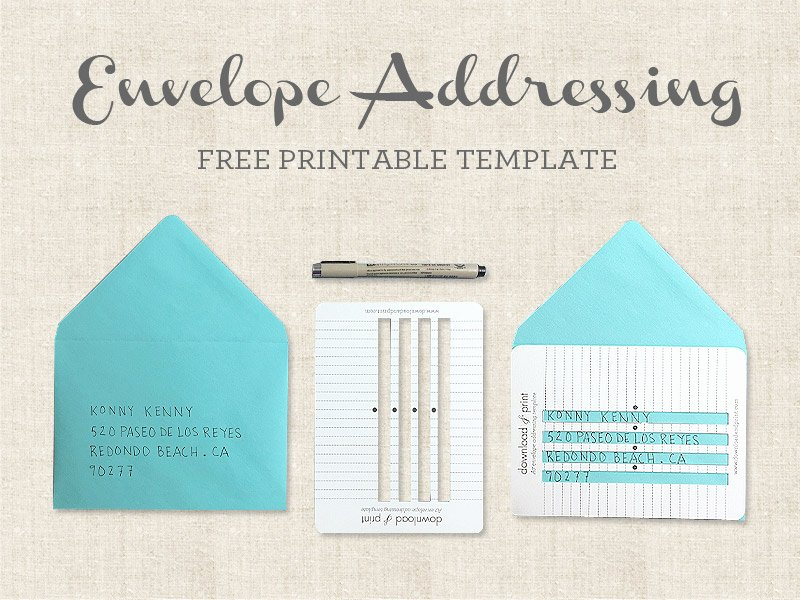 Letter Envelope Address Template Elegant Free Printable Envelope Addressing Template