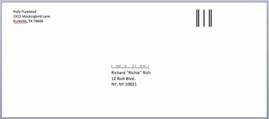 Letter Envelope Address Template Fresh How to Address Envelopes In Word 2008 for Mac Dummies