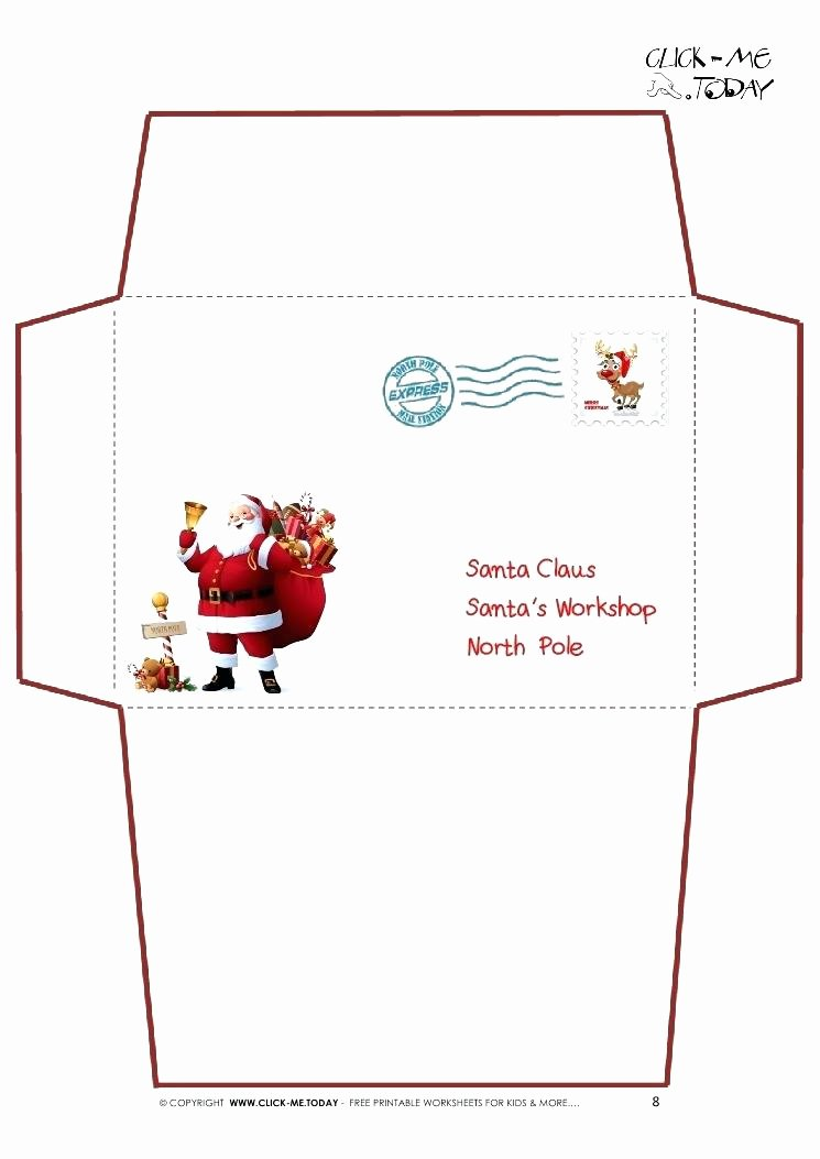 Letter Envelope Address Template Lovely Santa Envelopes Letter Envelope Dear Template – Steve Sroofing