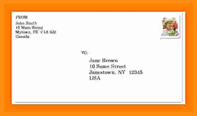 Letter Envelope Address Template New 9 10 format Of Mailing Address
