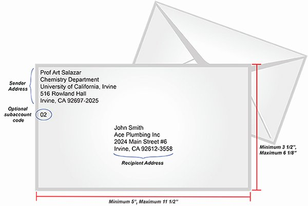 Letter Envelope Address Template New Uci Transportation and Distribution Services