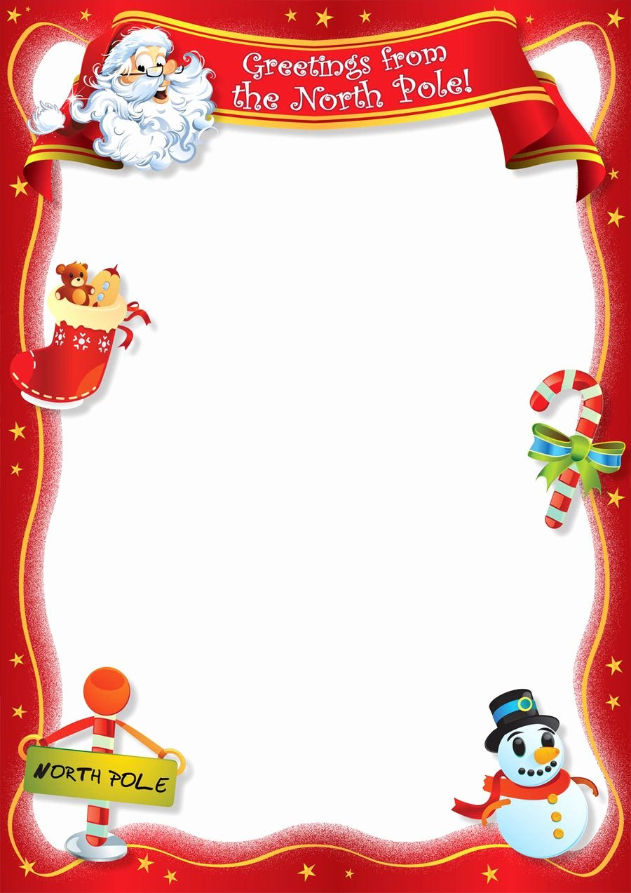 Letter From Santa Template Word Awesome Free Blank Letter From Santa Template New Calendar