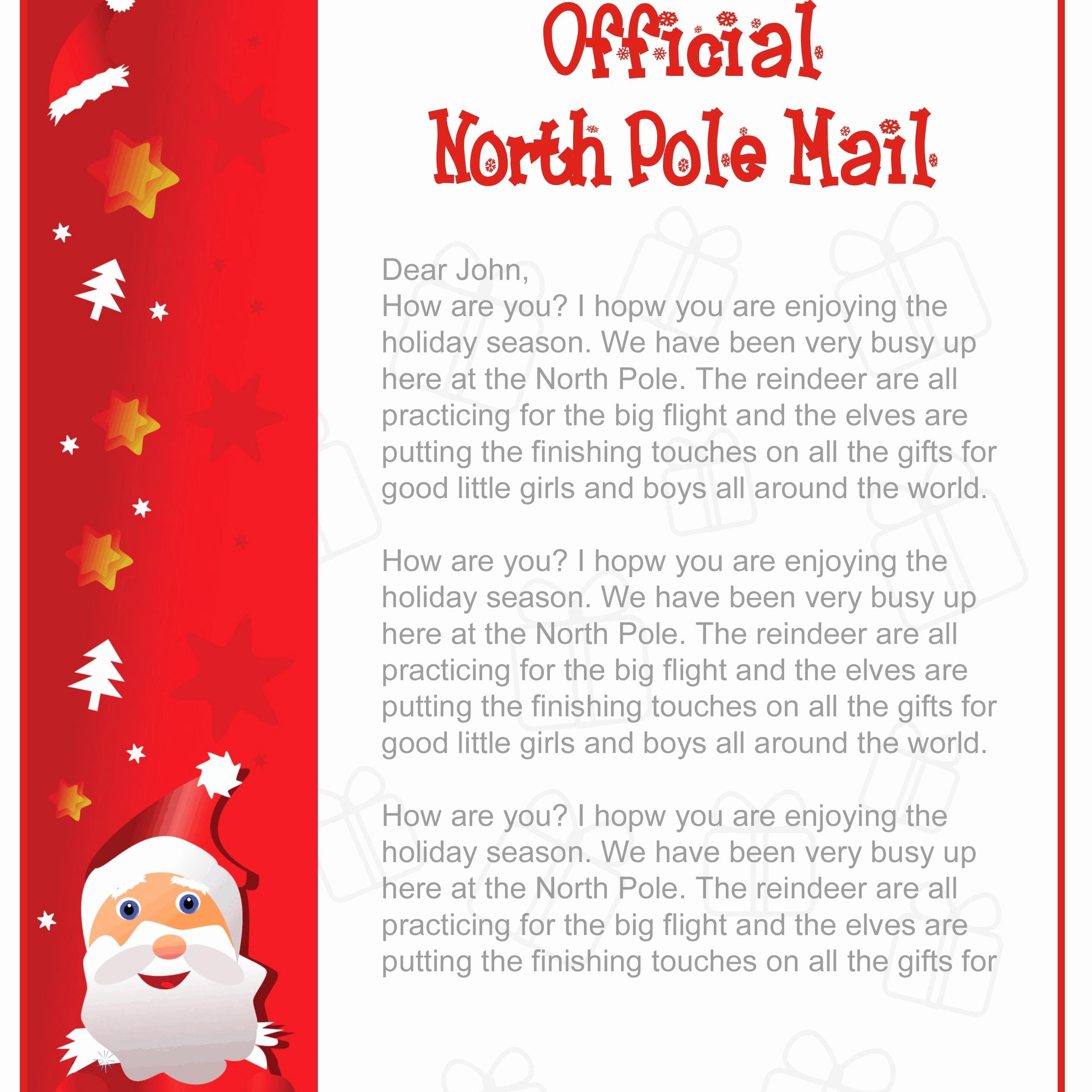Letter From Santa Template Word Beautiful How to Create Free Printable Santa Letters