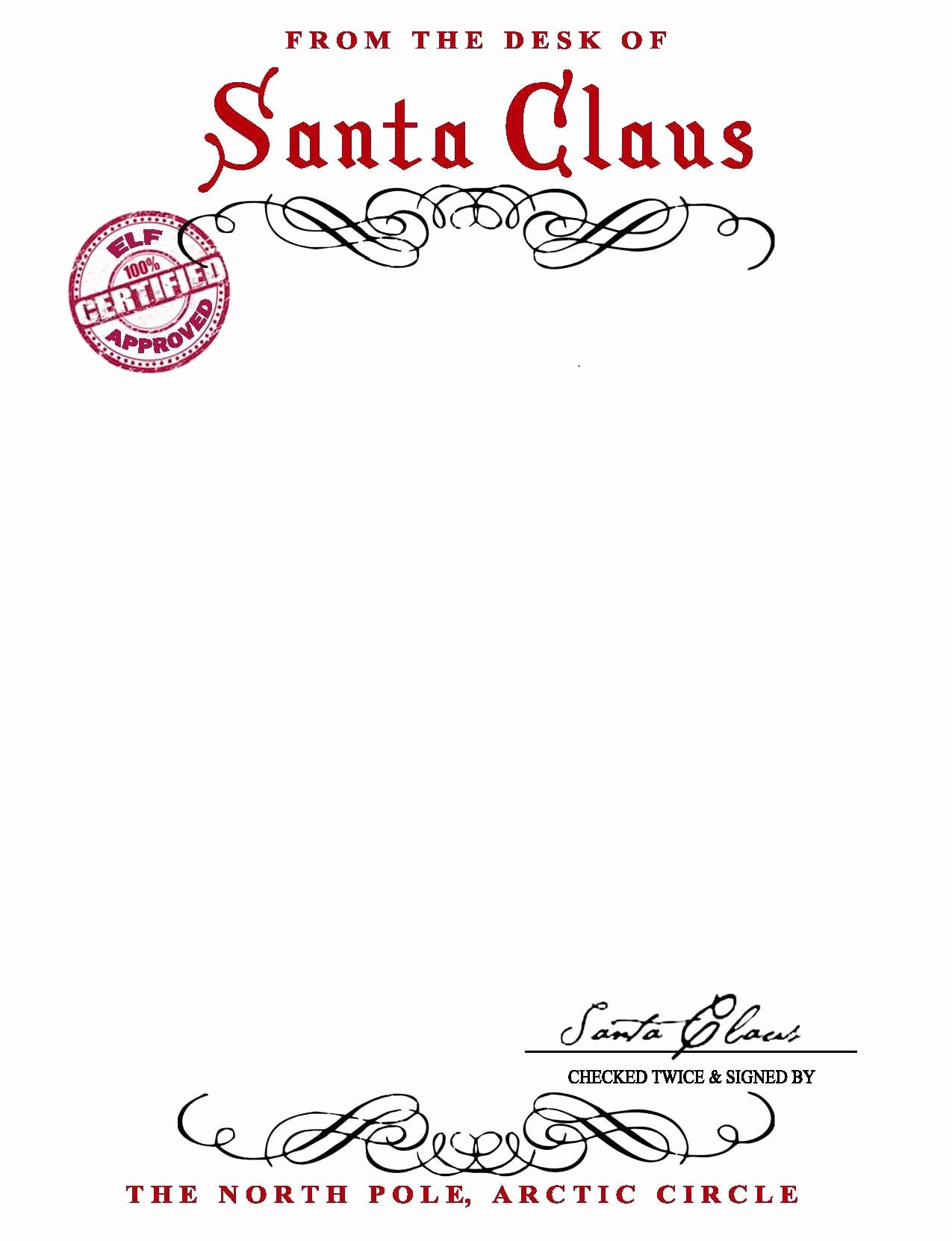 Letter From Santa Template Word Elegant Santa Claus Letterhead Will Bring Lots Of Joy to