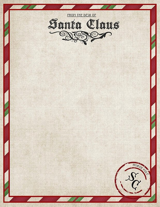 Letter From Santa Template Word Lovely Letter From Santa Word Template Letter Of Re Mendation