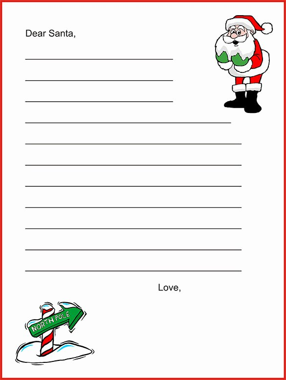 Letter From Santa Template Word Unique 17 Christmas Paper Templates Doc Psd Apple Pages