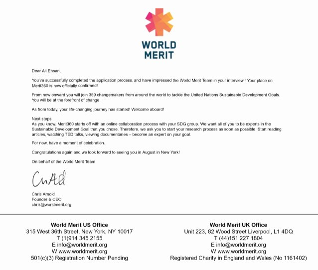 Letter Of Collaboration Lovely Merit360 Acceptance Letter