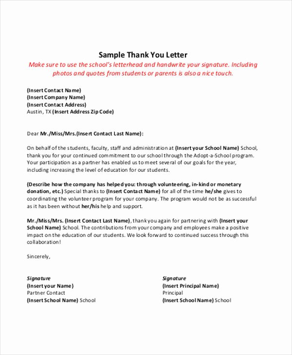 Letter Of Collaboration Luxury 51 Thank You Letter Example Templates