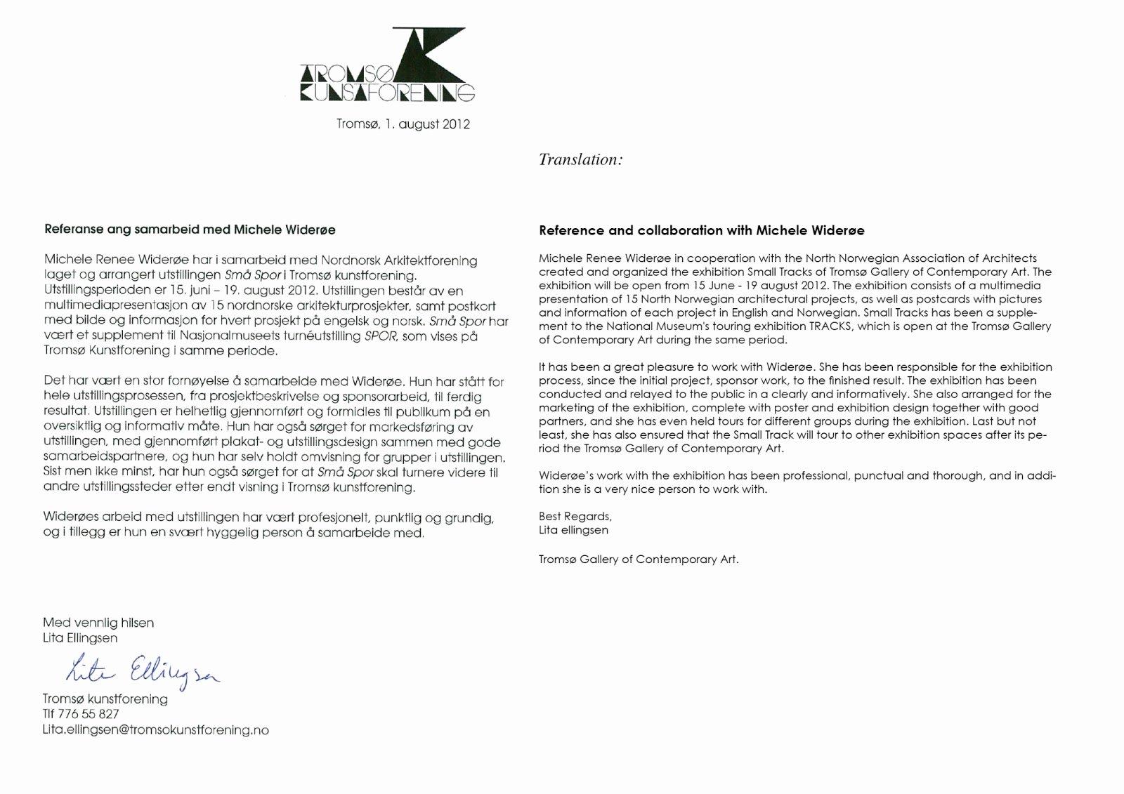 Letter Of Collaboration Unique Små Spor Letters Of Re Endation