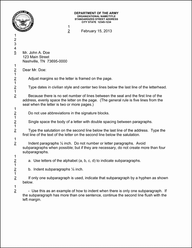 Letter Of Concern Army Example Awesome Best S Of Army Letter format Military Letter format