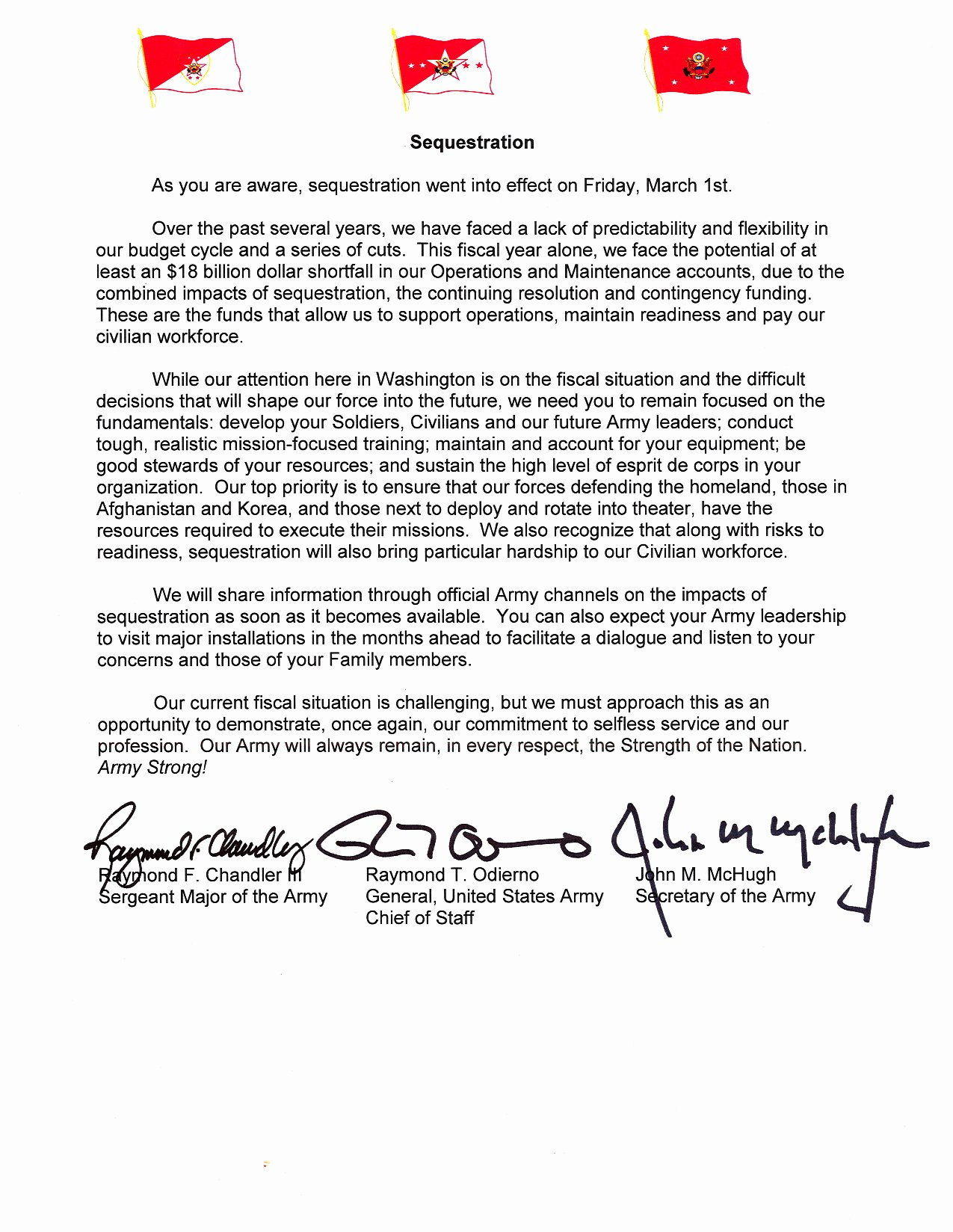 Letter Of Concern Army Example Elegant Sequestration Tri Signed Letter Article