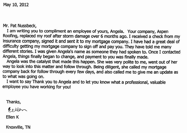 Letter Of Concern for Employee Fresh Read aspen S Nationwide Testimonials