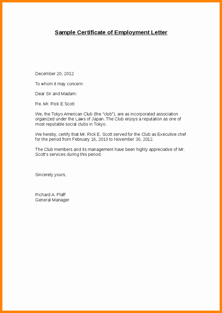 Letter Of Concern Sample Unique Employment Verification Letter to whom It May Concern