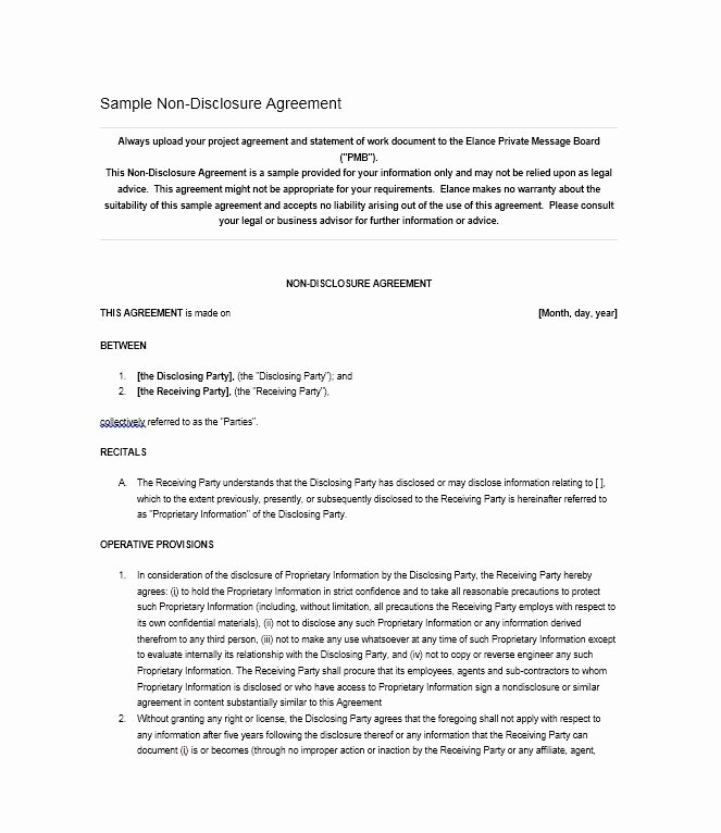 Letter Of Confidentiality Template Best Of 40 Non Disclosure Agreement Templates Samples & forms