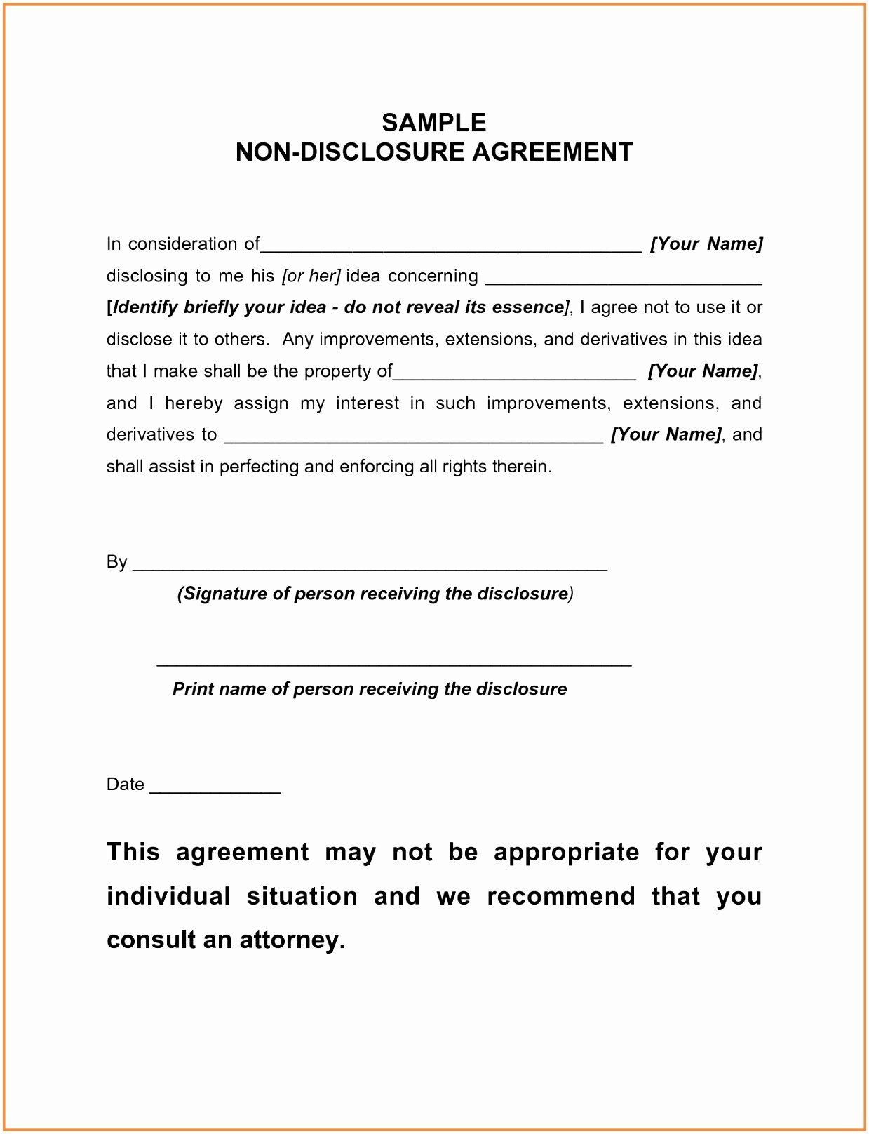 Letter Of Confidentiality Template Inspirational 6 Client Confidentiality Agreement Template Yoytu