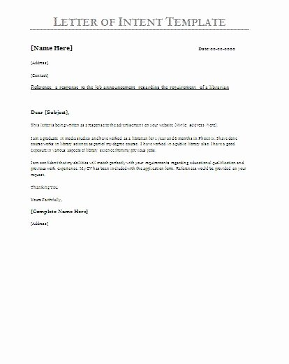 Letter Of Intent for Leasing Commercial Space Fresh Printable Sample Letter Intent Sample form