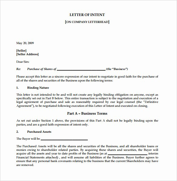 Letter Of Intent for Leasing Commercial Space Lovely Free Intent Letter Templates 18 Free Word Pdf