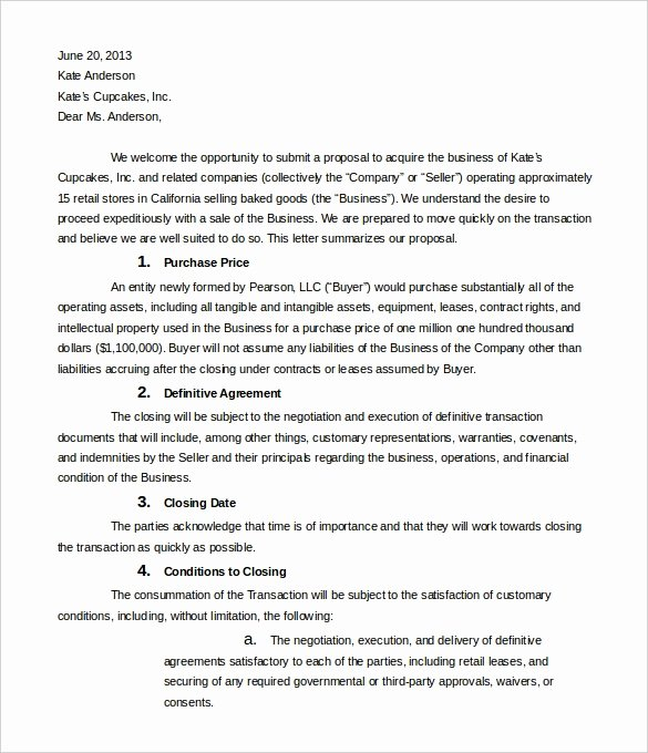Letter Of Intent for Leasing Commercial Space New Letter Intent to Supply Goods Letter Of Re Mendation