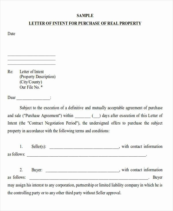 Letter Of Intent to Lease Sample Fresh Sample Letter Intent Mercial Real Estate Lease