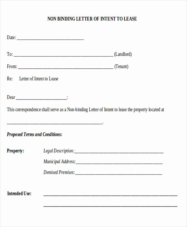 Letter Of Intent to Lease Template Elegant 14 Sample Lease Proposal Letters Pdf Pages
