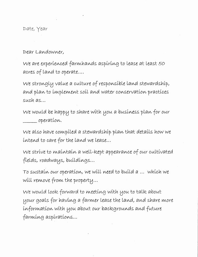 Letter Of Intent to Lease Template Lovely Leasing From Non Farming Landowners Part I